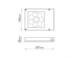 Dimensional drawing of the ExoBook Medium